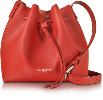 Lancaster Paris Pur & Element Saffiano Leather Bucket Bag