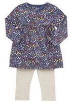 F&F Floral Tunic and Ribbed Leggings Set, Newborn Girl's