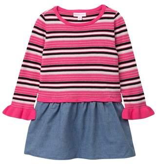 Design History Striped Dress (Toddler & Little Girls)