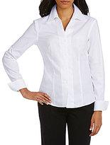 Calvin Klein Petite Wrinkle-Free Pinpoint Oxford Blouse