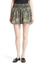 Rebecca Taylor Women's Wildflower Smocked Waist Shorts