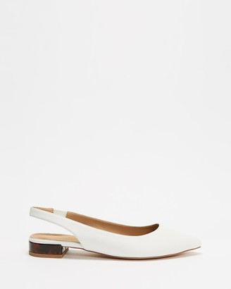 Spurr Women's White Loafers - Calibrate Flats - Size 6 at The Iconic