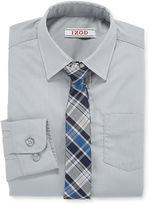 Izod Shirt and Clip-On Tie Set - Boys 8-20