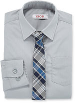 Izod Shirt and Clip-On Tie Set - Boys Husky