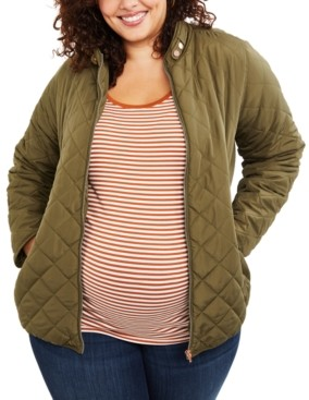 Motherhood Maternity Plus Size Quilted Jacket