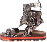 MSGM Embossed Gladiator Sandals w/ Tags