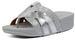 FitFlop Women's Varont Glitter Toe-Thong Wedge Sandal Women's Shoes