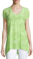 Johnny Was Harva Floral-Print Georgette Tunic, Petite