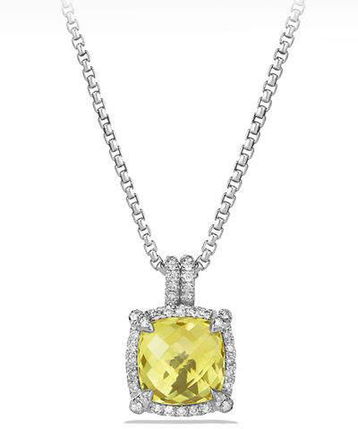 David Yurman 9mm Châtelaine® Bezel Necklace with Diamonds