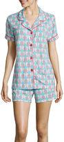 Asstd National Brand Warm Milk by BedHead Short-Sleeve Top and Shorts Pajama Set