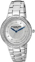 Stuhrling Original Women's Quartz Watch with Silver Dial Analogue Display and Silver Stainless Steel Bracelet 851.01