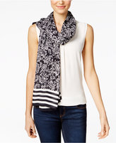 MICHAEL Michael Kors Floral Striped Oblong Scarf