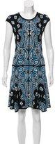 Ronny Kobo Paisley Pattern Knee-Length Dress