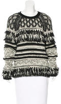 Yigal Azrouel Wool-Blend Fringe-Trimmed Sweater w/ Tags