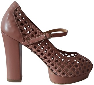 NO.6 STORE Store Pink Leather Heels