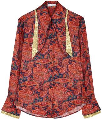 J.W.Anderson Paisley-print satin-twill blouse