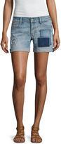 Arizona Patch Midi Shorts-Juniors