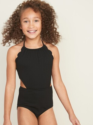 Old Navy Textured Side-Cutout Swimsuit for Girls