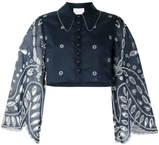 Alice McCall Moonchild cropped lace shirt