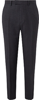 John Lewis Ermenegildo Zegna Super 160s Wool Check Tailored Suit Trousers, Charcoal