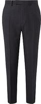 John Lewis Ermenegildo Zegna Super 160s Wool Check Tailored Suit Trousers, Charcoal