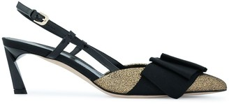 Lanvin kitten pumps with bow detail