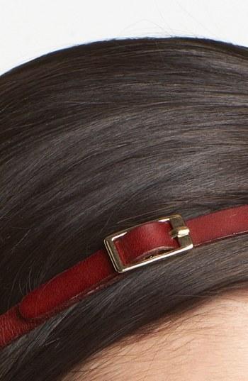 Tasha 'Buckle My Belt' Leather Head Wrap