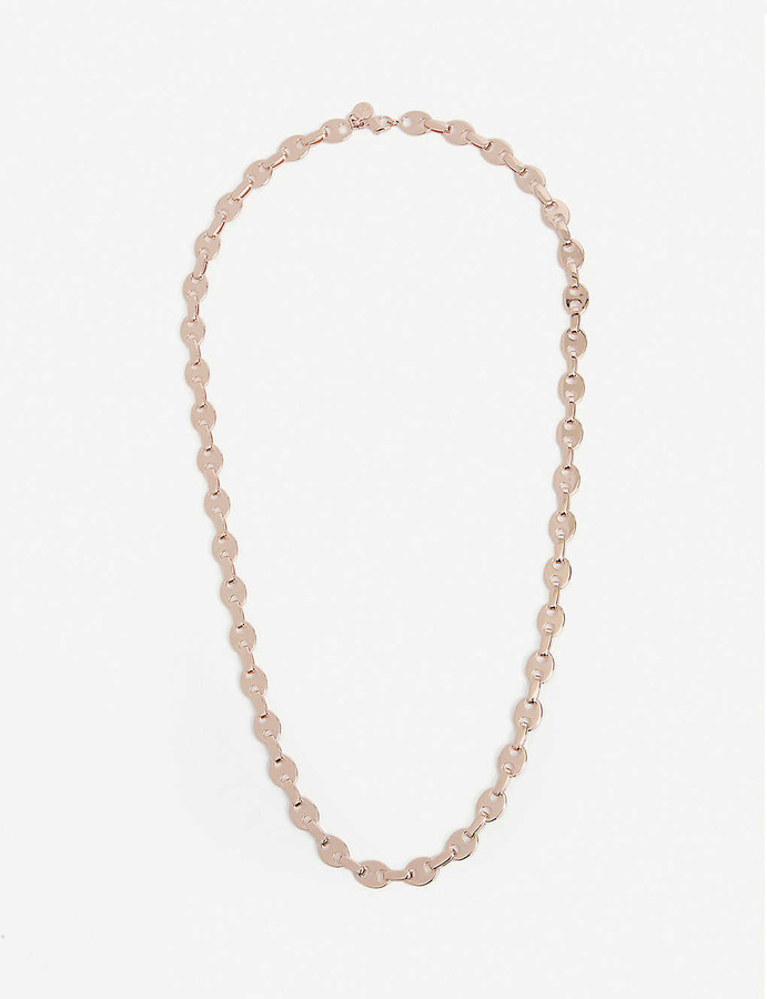 Paco Rabanne Eight Nano rose gold-tone link necklace