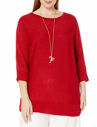 Amy Byer Women's Plus Size Dolman Sweater