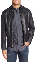 Schott NYC Men's Cafe Racer Leather Jacket