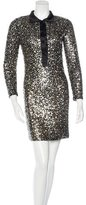 Naeem Khan Silk Sequined Dress
