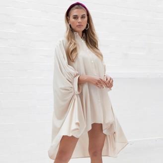 Jovonna London Nude Peyton2 Oversized Shirt Dress - one size