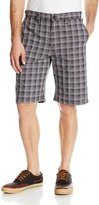 Dickies Men's Performance 11-Inch Plaid Flat Front Short