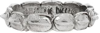 Emanuele Bicocchi Silver Croc Hornback Ring