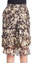 Givenchy Silk Tortoise Shell Skirt