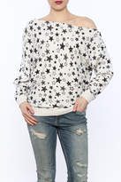 Minnie Rose Off-Shoulder Sweatshirt