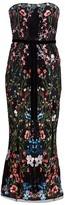 Marchesa Strapless Sequin Embellished Cocktail Dress