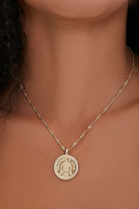 Forever 21 Ancient Coin Pendant Twisted Necklace