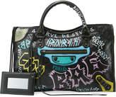 Balenciaga Classic City AJ Graffiti-Print Satchel Bag