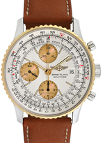 Breitling Vintage Old Navitimer II Stainless Steel, 18K Yellow Gold & Leather Watch, 41mm