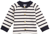 Petit Bateau Unisex Baby Sailor Striped Cardigan In Heavy Brushed Jersey