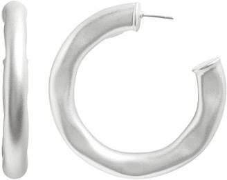 Banana Republic Hammered Silver Hoop Earrings