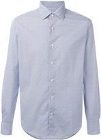 Xacus geometric pattern button-up shirt - men - Cotton - 38