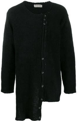 Yohji Yamamoto Asymmetrical Long-Line Cardigan