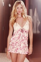 Thumbnail for your product : Marks and Spencer Rosie for Autograph Pure Silk Rose Print Lace Babydoll Set