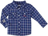 Diesel Yarn Dyed Check Button Shirt (Baby) - Royal-18 Months