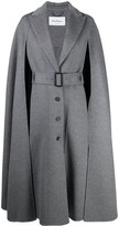 Thumbnail for your product : Salvatore Ferragamo Cape-Detail Belted Coat
