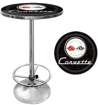 Trademark Global Corvette C1 Pub Table Color: Black