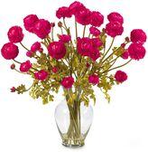 Bed Bath & Beyond Nearly Natural Silk Ranunculus Liquid Illusion Flower Arrangement in Pink Beauty