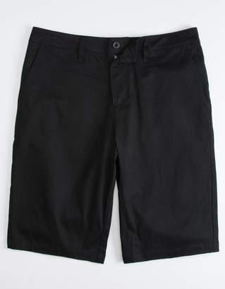 Valor Long Black Mens Chino Shorts